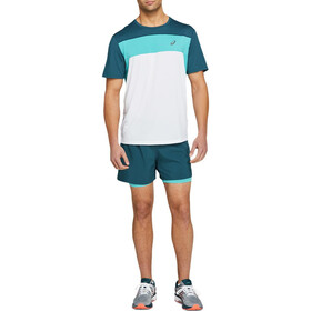 "asics Icon 7"" Shorts Heren, magnetic blue/techno cyan"